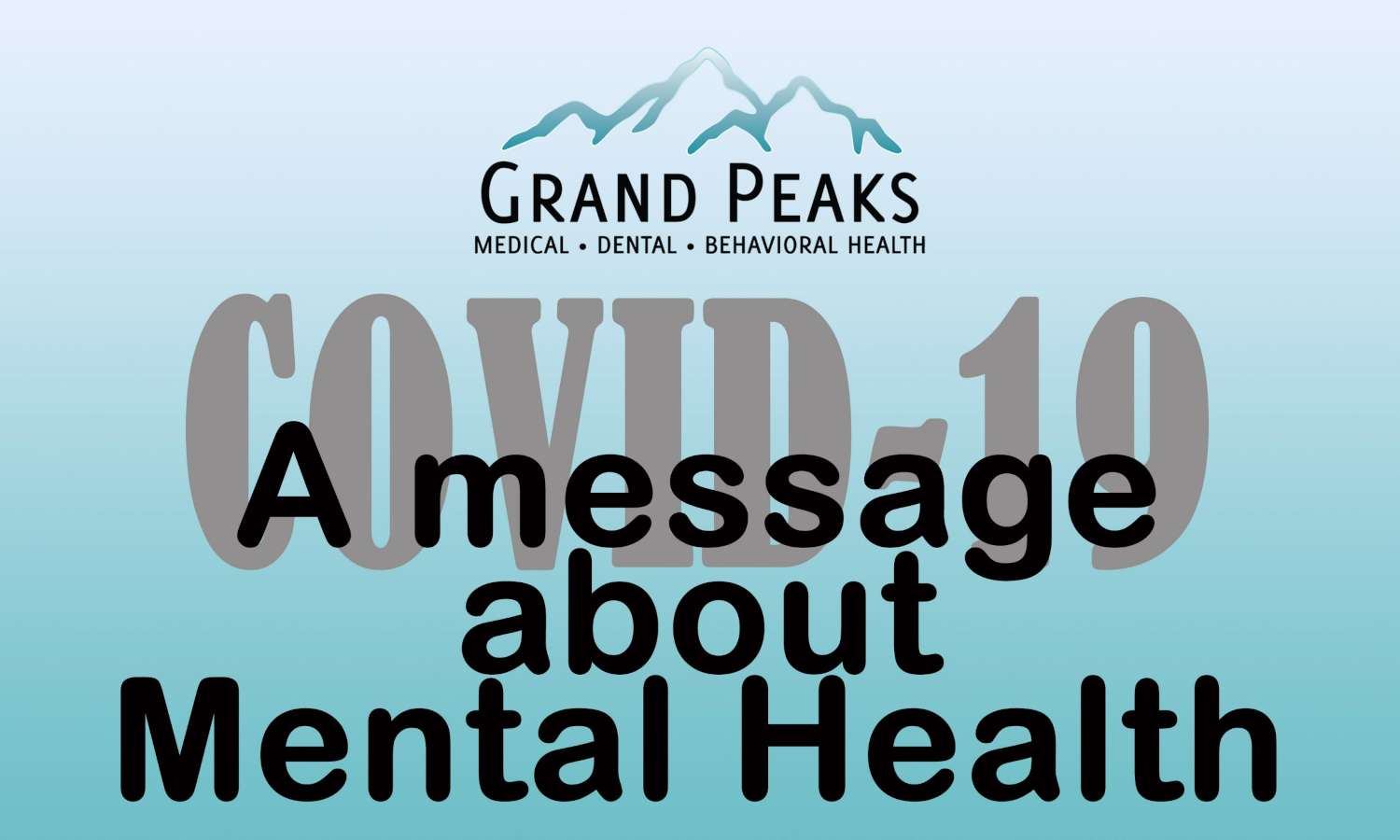 a message about mental Health